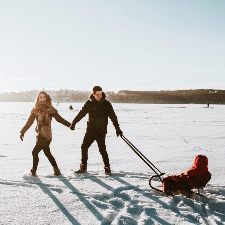 ski avec bébé