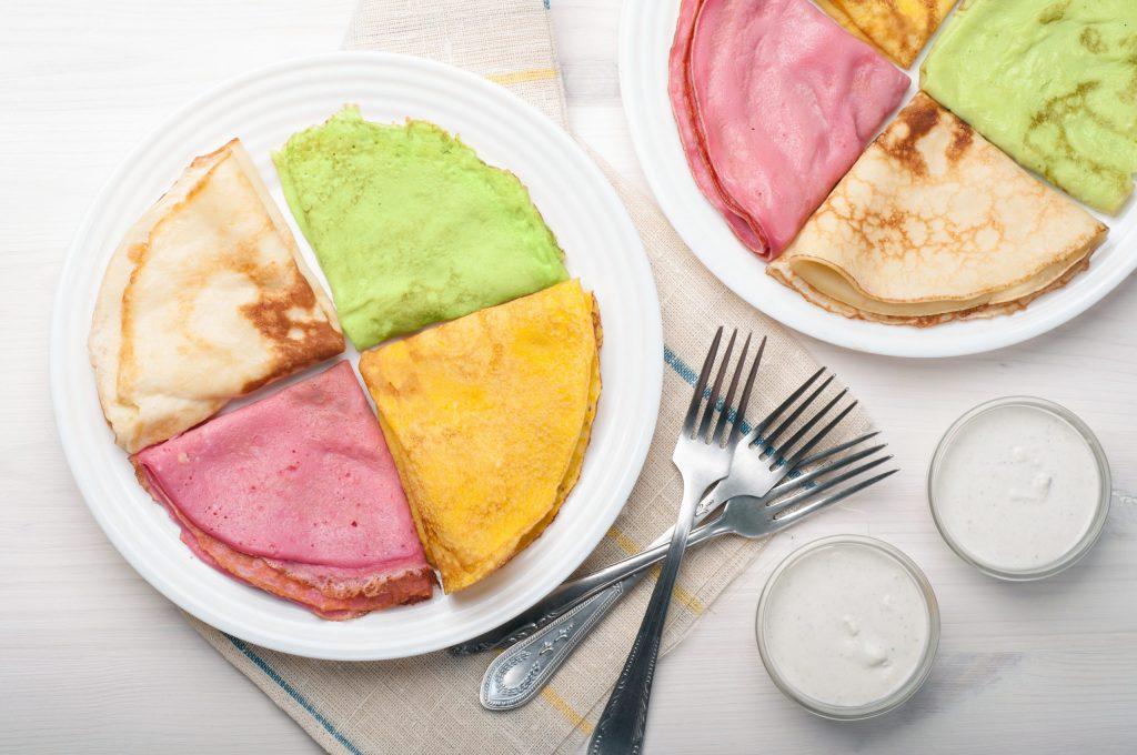 Chandeleur : recettes de crêpes colorées