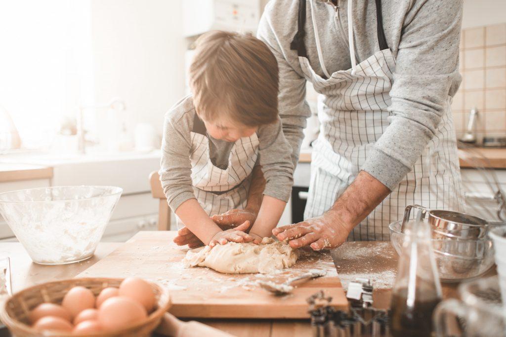 La cuisine m'a vraiment aidé à faire grandir mon fils